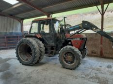 CASE 1394 TRACTOR + QUICKIE 3301 LOADER