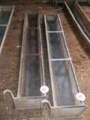 2 X 6' HANG ON TROUGHS