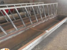 15' FEED BARRIER AND TROUGH