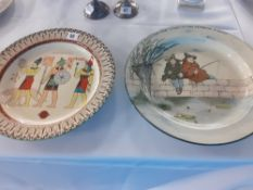 56 Two Royal Doulton Seriesware plates one depicting an Egyptian scene the other rustic fishermen.