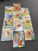 Collection of Rupert the bear Annuals