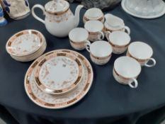 An Elizabethan china teaset with floral decoration 22 pieces