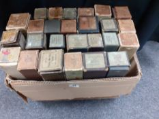 A collection of 26 pianola piano rolls