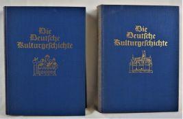 """""""Die deutsche Kulturgeschichte"""", Prof. Dr. Georg Steinhausen, 2 Bände, 1936, gu"""