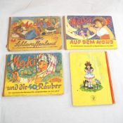 "4x Kinderbücher, ""Mecki"" 50er Jahre"