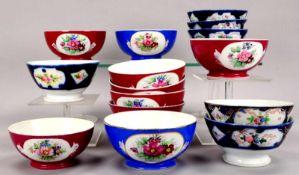 Gardener Porzellan/Russland (wohl für den islamischen Markt), Schalen-Konvolut, handbemalt, 15