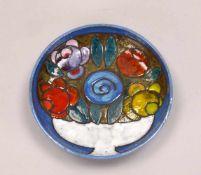 Weichberger, Heide (1922 - 1980, Worpsweder Keramikkünstlerin), Wandschale, 'Blumen in Fußschale',