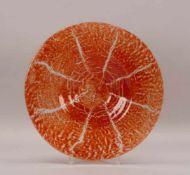 """WMF-Ikora, Glasschale, mit orangefarbenem Unterfang; Durchmesser Ø 40 cm """""""""""""""""""