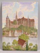 KPM (Zeptermarke), alte Porzellan-Bildplatte, mit allerfeinster Porzellanbild-Malerei, Motiv '