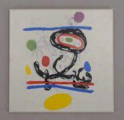 Zirconio/Spanien, Keramikfliese, mit Siebdruck, 'Miro'-Motiv, in limitierter Auflage; Maße 20 x 20