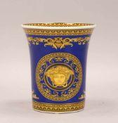 Rosenthal/Versace, Tischvase, 'Medusa Blue'; Höhe 18 cm, Durchmesser Ø 15 cm