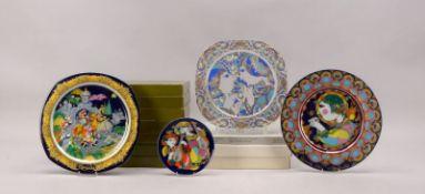 Rosenthal, Konvolut 'Weihnachtsteller', 11 Stück/davon 2x in Glas, Entwurf: Björn Wiinblad, jeweils