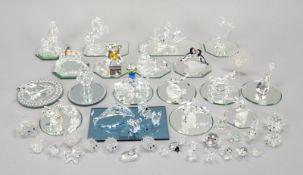 Swarovski, großes Glasobjekte-Konvolut, unterschiedliche Teile und Größen/darunter diverse Spiegel-