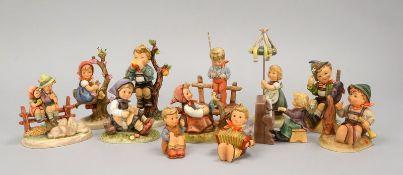 Hummel/Goebel, Porzellanfiguren, verschiedene Größen und Ausführungen, 12 Stück