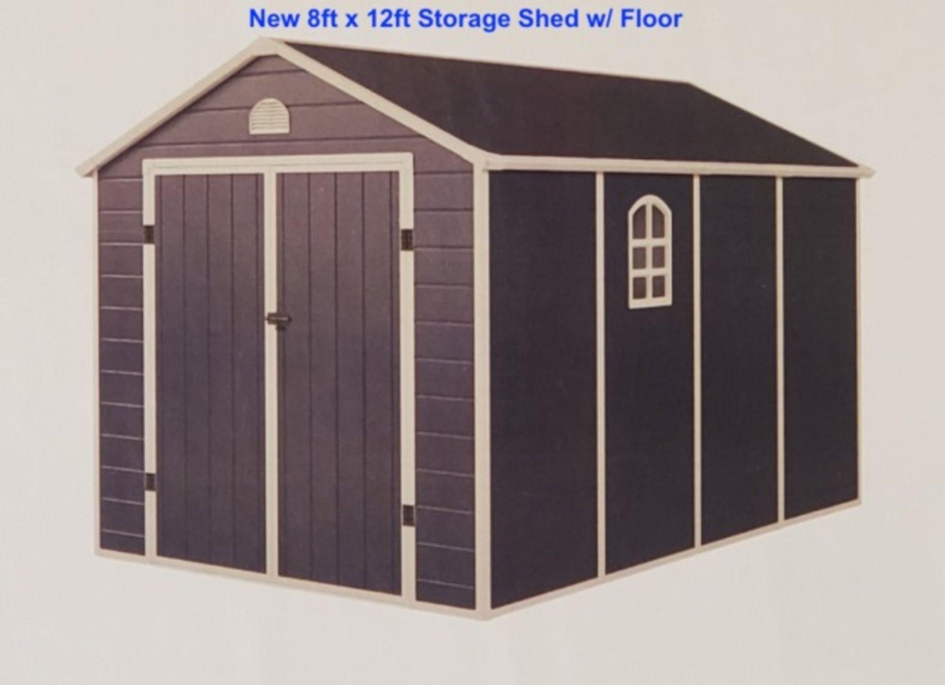 Lot 446 - Unused 8' x 12' Storage Shed W/Floor
