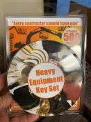 New Unused Heavy Equipment 24-Key Set, Fits Over 500 Different Machines