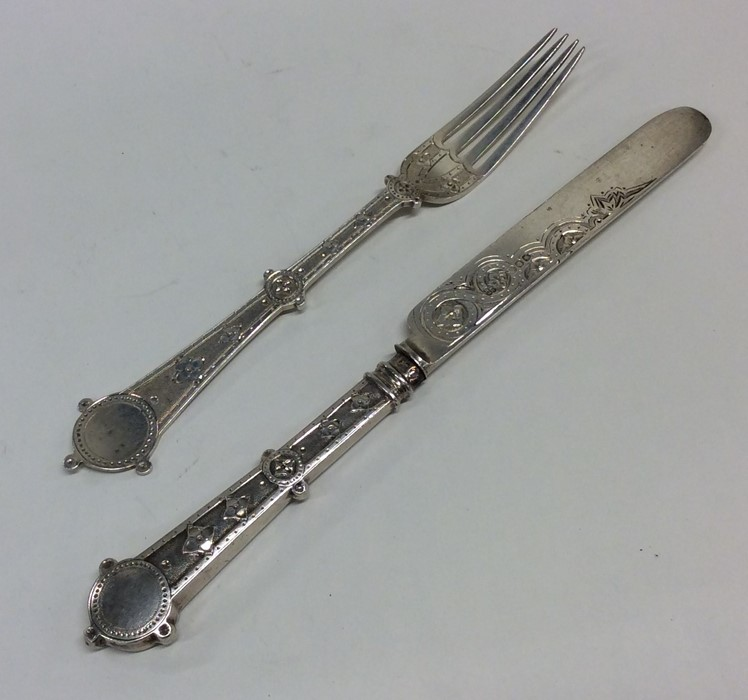 Lot 48 - A Victorian silver two piece christening set with