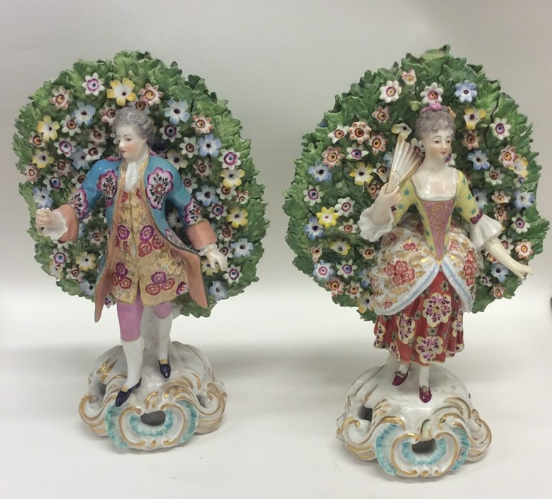 Lot 25 - A good pair of Continental porcelain figures with