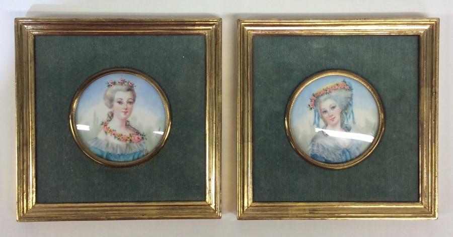 Lot 2 - A pair of rectangular framed miniatures on ivory d