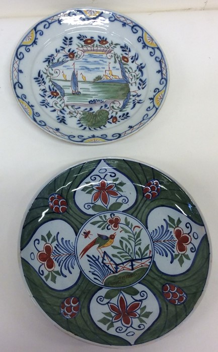 Lot 15 - A pair of 18th Century Delft decorative circular w