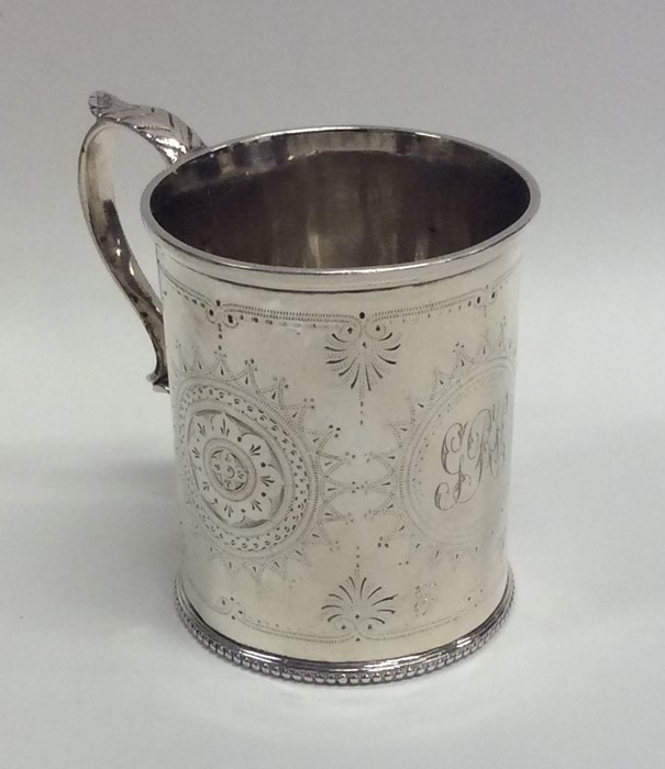 Lot 6 - A Victorian silver christening cup with engraved d