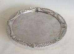 A good quality George III silver waiter. London 17