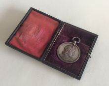 A Royal Academy cased silver medallion in fitted b