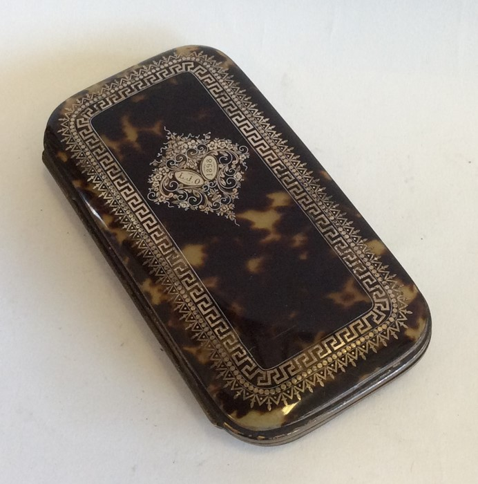 Lot 16 - A large attractive Georgian tortoiseshell and gold