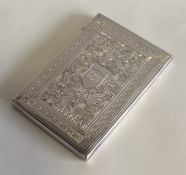 A good quality Victorian silver card case with flo