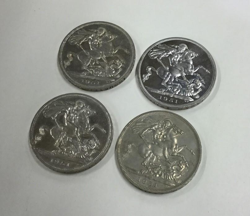 Lot 22 - Four 1951 Crowns. Approx. 114 grams. Est. £15 - £2
