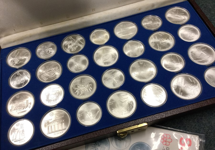 Lot 14 - A large cased silver Series 3 1976 Canadian Olympi