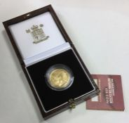 A Royal Mint Britannia £25 1/4 ounce gold coin. Es