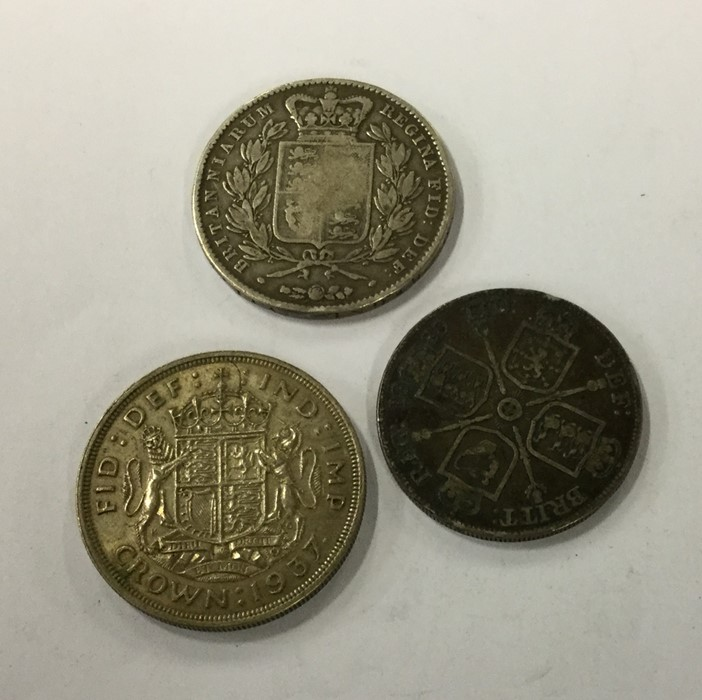 Lot 25 - An 1845 Crown together with a 1937 Crown. Approx.