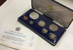 A cased Jamaica proof set of coins. Est. £25 - £35