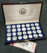 A large cased silver Series 3 1976 Canadian Olympi