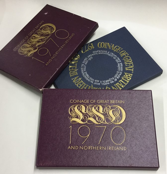 Lot 42 - Two cased 'Coinage of Great Britain 1970' coin set