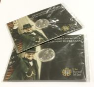 Two silver proof Winston Churchill £20 coins. Est.