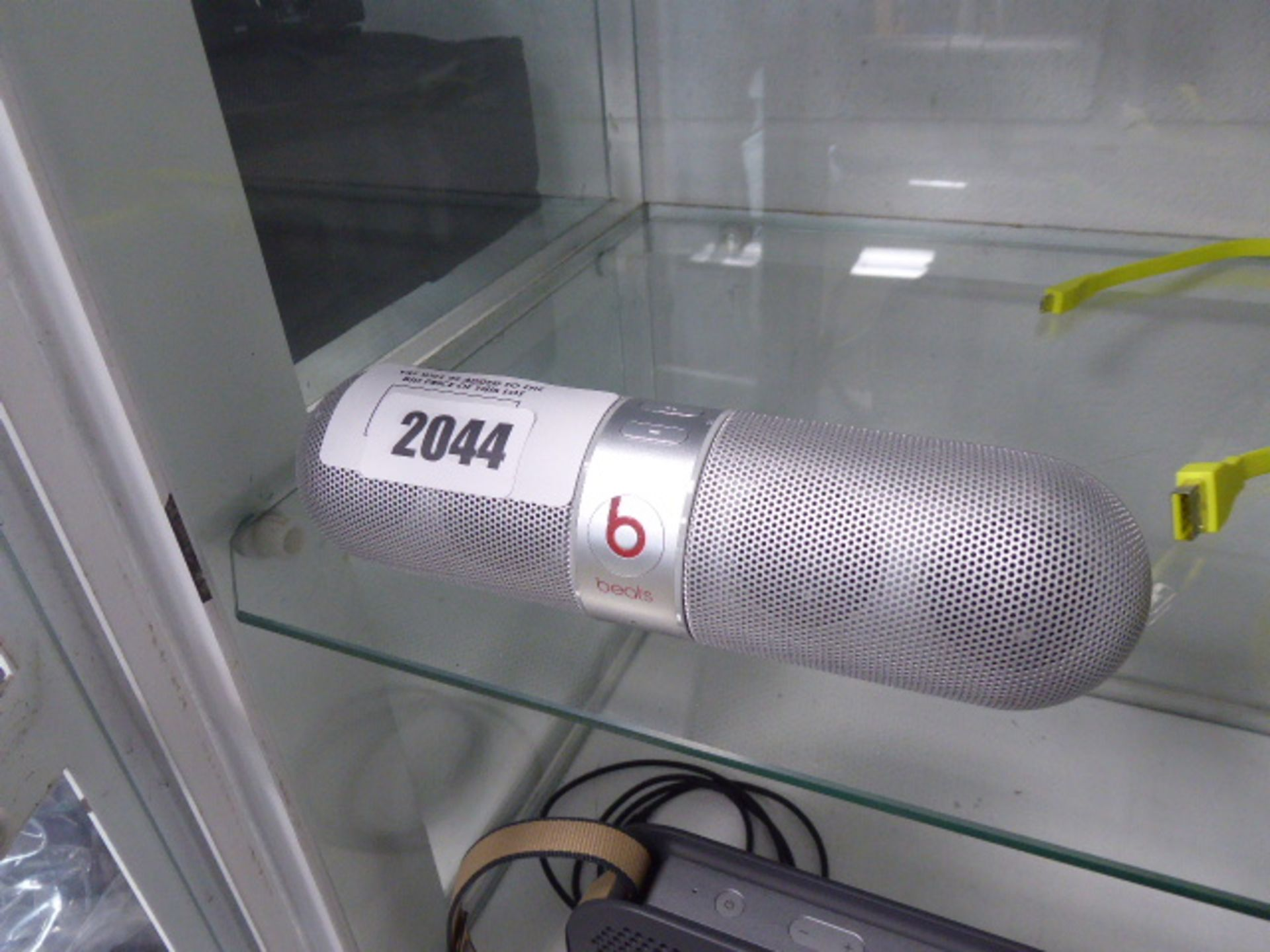 Lot 2044 - 2353 Beats Pill portable bluetooth speaker in silver, no charger