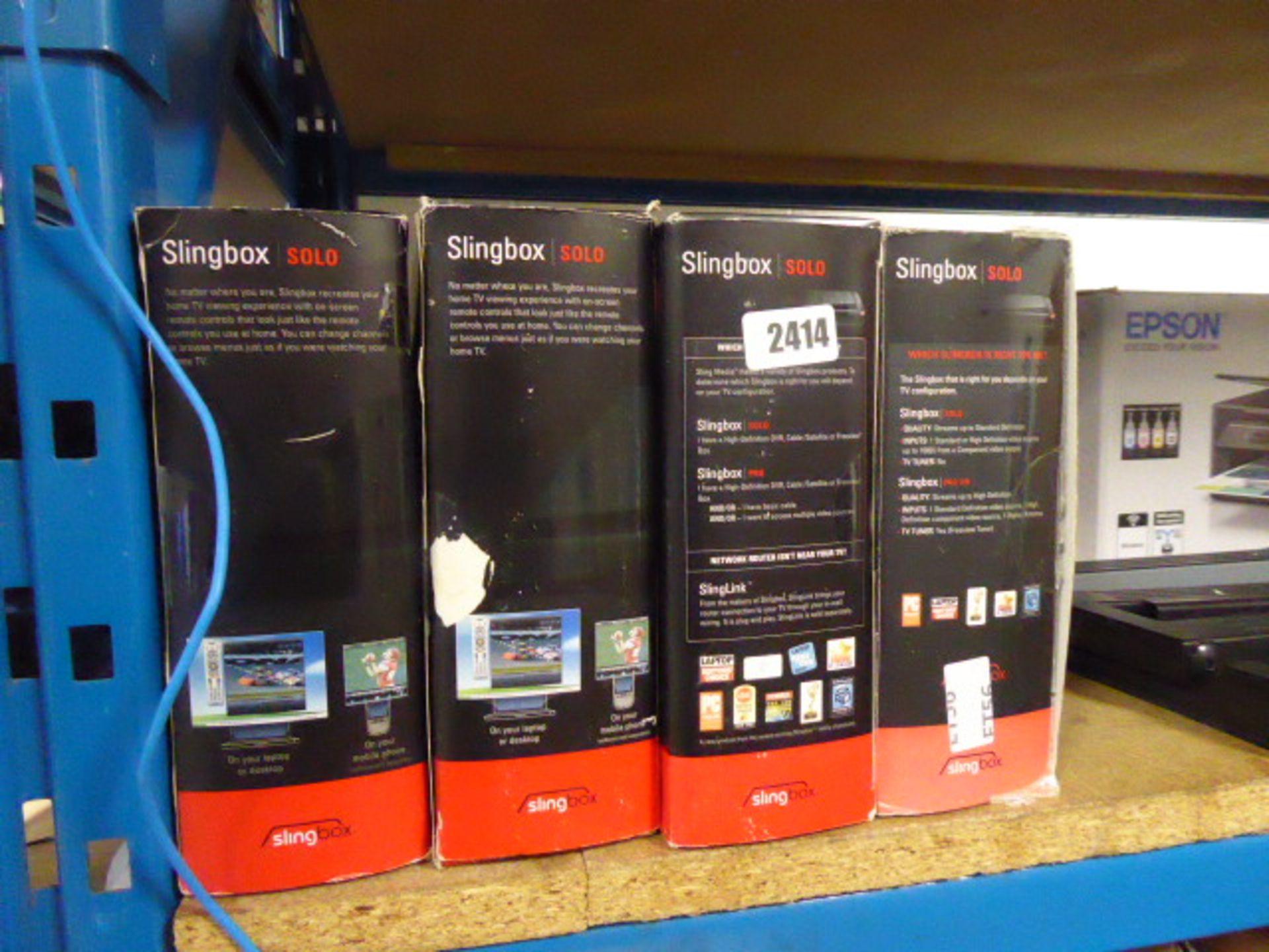 Lot 2414 - 4 boxed Slingbox solo units