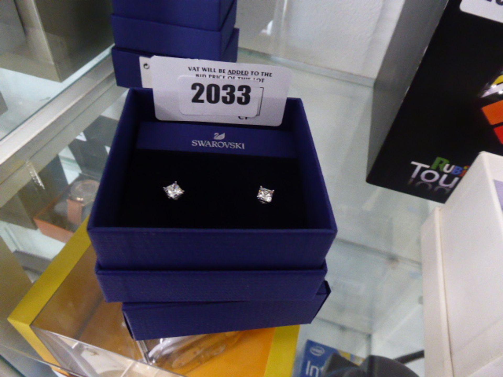 Lot 2033 - Swarovski stud earrings in box