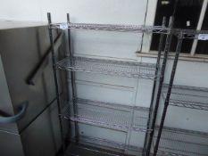 (224) 90cm Stainless steel 4 tier pot rack