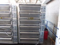 134cm Wide x 120cm deep x 220cm tall Tom Chandley Ovens Compacta 6 deck baking oven, each deck takes