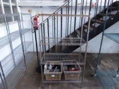 (215) 90cm Stainless steel 4 tier pot rack
