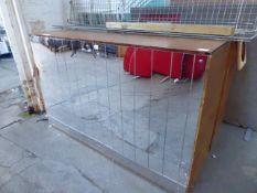(292) 2 153cm custom made bars with mirrored panel finish