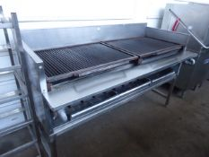 185cm Magikitch-n inc American style gas char grill with multi burners on custom built table