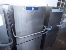 61cm Hobart model AMXRR-10A lift top pass through dishwasher with digital display year 2014