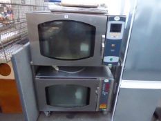 100cm Mono BX bake off double stack oven set with a mobile trolley 3 phase electric