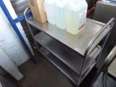 Heavy duty stainless steel 3 tier metal trolley