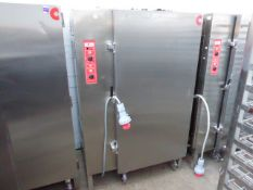 110cm Convotherm regeneration oven with 18 tray walk in trolley plus a spare trolley 3 phase