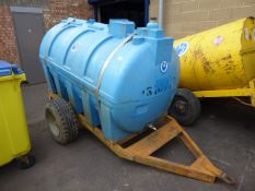 2500L water tank on single axle plant trailer (310772)